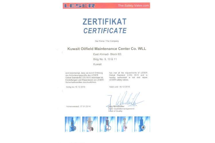 Kuwait Oilfields Maintenance Centre Co  | Al-Rashed Holdings